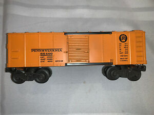 Lionel Trains 2454 Pennsylvania 9 1/4 Orange/Orange Door Box Car Vintage Postwar