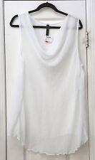 Isabella white sleeveless 3X top NWT