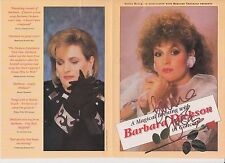 BARBARA DIXON OBE HAND SIGNED AUTOGRAPHED TOUR FLYER