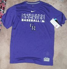 NEW MLB Colorado Rockies T Shirt Men S Small NIKE Dri Fit NEW NWT