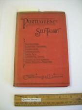 Portuguese Self Taught 1912 Marlborough Edition Thimm's System Phonetic  E Cunha