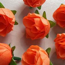 Orange 10PC Artificial Fake Silk Flowers Floral Garland Wedding Home Decor