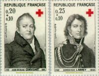 EBS France 1964 Red Cross - Croix Rouge Corvisart & Larrey MNH** YT1433-1434