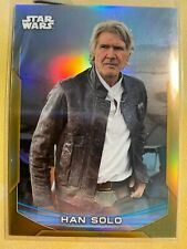 HAN SOLO 2020 Topps Star Wars Chrome Perspectives Gold Refractor #7R /50