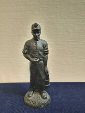 Vintage Coal Miner Statue - Kingmaker Hand Made from Real Welsh Coal Man Cave