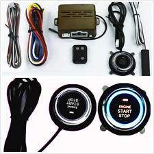Mini Car Alarm System One Button Start Induction Antitheft Remote Control Engine