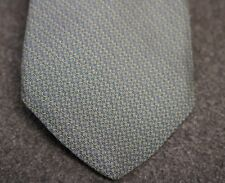 STUNNING! BROOKS BROTHERS BLUE GREEN RINGS CHAIN 100% SILK NECK TIE