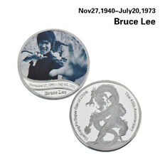WR Kung Fu Bruce Lee Silver Coin Fist Of Fury / Chinese Connection Souvenir Gift