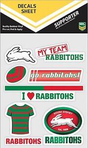 NRL South Sydney Rabbitohs UV Car Tattoo Mixed Sticker iTag Decal Sheet