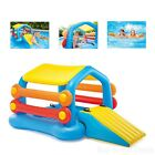 New Inflatable Cabin Island And Slide Water Play Center Swimming Pool Kids Float