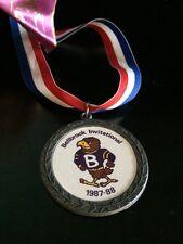 Bellbrook High School Ohio Bellbrook Invitational 2nd Place Wrestling Medal 1987