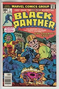 BLACK PANTHER # 1  VF 8.0  SOLO SERIES  JACK KIRBY ART   CENTS  1977