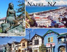 New Zealand - NAPIER - Travel Souvenir Flexible Fridge Magnet
