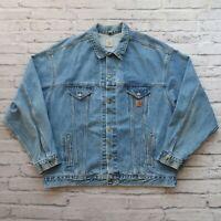 Vintage 90s Carhartt Denim Trucker Jean Jacket XL XXL Made in USA Wip
