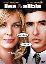 New! ~ Lies & Alibis (Dvd, 2006, Fs & Widescreen) Steve Coogan & Rebecca Romjin