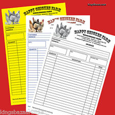 6 A5 Personalised Invoice Duplicate Pads/NCR/Receipt Books FULL COLOUR print