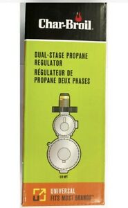 Char-Broil Dual-Stage Silver Propane Tank Regulator for Propane Cylinders