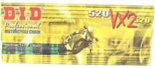 D.I.D. DID 520 Pro Street X-Ring VX2 Series Natural Chain. 520VX2-120 Links
