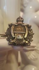 Ww1 Rare 2 piece Orig Canadian officers badge, 176th battalion Niagra Rangers