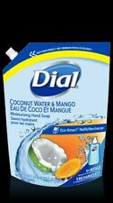 Lot of 2 Dial coconut water and mango 5+ refill 40oz  hand soap wash total 80 oz