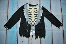 TU outfit disguise skeleton costume halloween carnival size 5-6 years