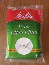 Melitta Coffee Filters for Percolators White Wrap Around 40 Count Filters NEW