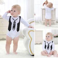 Eg _ Carino Neonato Bambino Cotone Tutina Intera Body Bebè Vestiti Completi