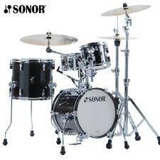 NEW Sonor AQ2 MARTINI Maple 4 Piece Drum Set Shell Pack - Transparent Black
