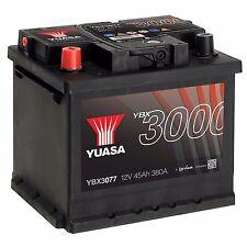 Yuasa YBX3077 12V Car Battery 45Ah 380A 077 Type Sealed Maintenance Free