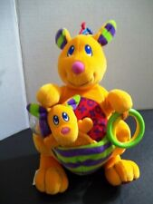 Lamaze Kangaroo Plush Toy Rattle with Detachable Teether and Rings