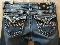 Miss me straight leg denim jeans. Size 27 Rise7 Waist Flat 14.5 =29X33...