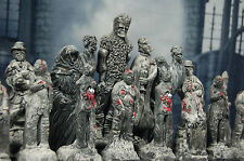 Gothic Horror Chess Set, Custom Colours (Pieces only/No Board) Zombies, Dracula