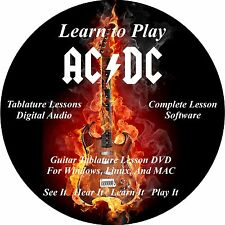 AC/DC Guitar TABS Lesson CD 180 Songs + Backing Tracks + BONUS!