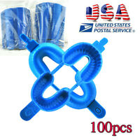 100 pcs Large Dental Fluoride Disposable Dual Arch Trays For Gel or Foam USA