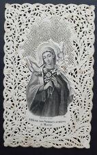 Image pieuse dentelle canivet holy card lace fin XIXème Vierge Marie Bouasse