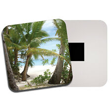 Tropical Beach Fridge Magnet - Palm Trees Ocean Sea Summer Holiday Gift #13078