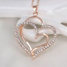 Fashion Peach Heart Necklace Pendant Fashion Jewelry Heart-shaped Necklace