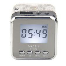 USB FM Radio Speaker Disk SD Card Support TF MP3/4 NiZHi YY-028 32GB Clip LCD