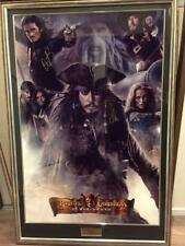Pirates of the Caribbean At World's End Poster w/ autograph Unused Very rare
