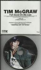 TIM McGRAW Felt Good On My Lips EDIT PROMO DJ CD Single 2010 USA MINT