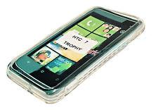 Silikon TPU Handy Hülle Cover Case Schale Schutz in  Foggy für HTC 7 Trophy