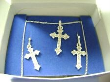 Avon Pave Cross Necklace and Earrings