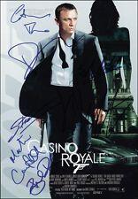 4 Photos Daniel Craig 007 James Bond Preprint Hand Signed Autograph new Pictures