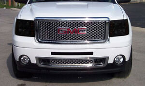 Fits 07-13 GMC Sierra GTS Smoke Acrylic Headlight Covers Protection Pr GT0839S