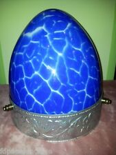 LAMPARA DE TECHO Plafon Azul Tulipa Calidad Guirnalda Art Nouveau Siglo XX  Rara