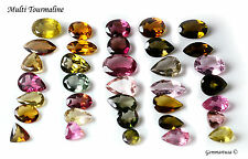 5 cts Loose Natural Multi Tourmaline Major Pink Mix Faceted Gemstone, Mixed Gems