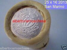 rotolino 25 x 1 euro 2013 San Marino san marin saint marin rouleau rollo