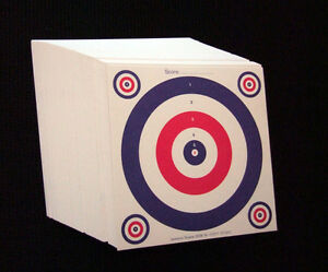 100 x 14cm Top Quality Air Rifle Pistol Shooting 2 Colour Paper 100g Targets