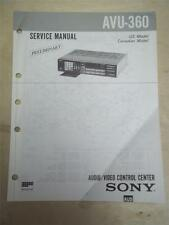 Sony Service Manual~AVU-360 AV Control Center~Original~Repair
