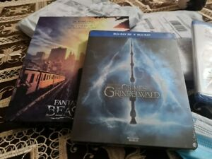 IN STOCK FANTASTIC BEAST 3D AND 2D STEELBOOK BLU RAY COMPLETE SET 1 AND 2 NEW RE